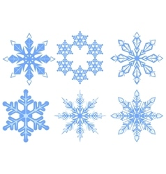 Set snowflake flake of snow vector