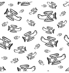 Pattern airplane vector