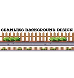 Seamless background design with wooden fence vector