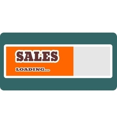 Sales word build in loading bar vector