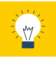 Light bulb design energy concept graphic vector