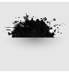 Abstract background with black paint splashes vector