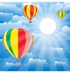 Aerostat balloons over sky Colorful vector image vector image