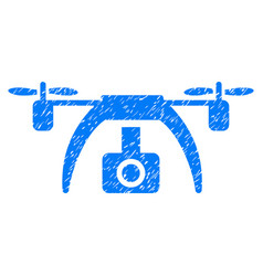 Drone video camera grunge icon vector