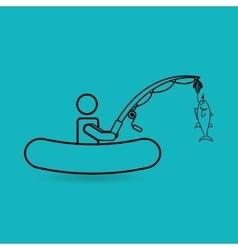 fishing icon design vector image