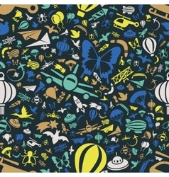 Flying seamless pattern vector