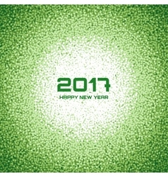 Green New Year Christmas Snowflake Background vector image vector image