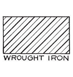 Mechanical drawing cross hatching of wrought iron vector