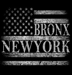 New york city brooklyn stylized american flag vector