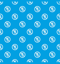 no louse sign pattern seamless blue vector image vector image