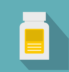 Pharmaceuticals bottle icon flat style vector