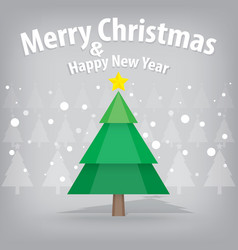 pine tree and snow theme merry christmas and vector image