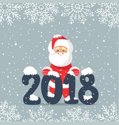 santa 2018 vector image