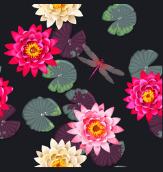 Seamless carps and lotus vector