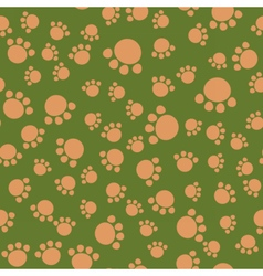 Seamless kids pattern bear paws vector
