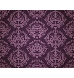 Seamless Wallpaper Pattern Dark vector image vector image
