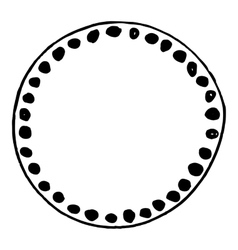 Simple hand drawn doodle circle template vector image vector image