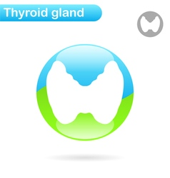 Thyroid gland sign vector image vector image