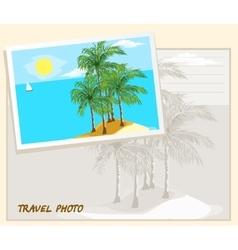 Travel photo template vector