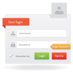 User Login vector image