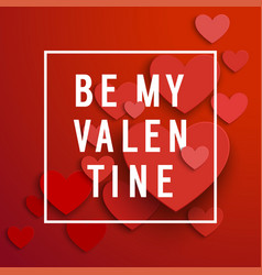 valentines day invitation card with heart shaped vector image