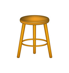 Wooden stool in retro design vector