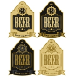 Labels for beer vector