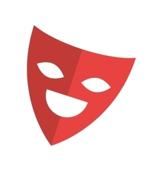 Theater mask isolated icon vector