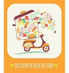 Delivery of a healthy food vector