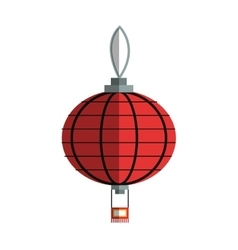 Isolated china lamp design vector