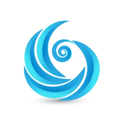 Swirly waves icon logo vector