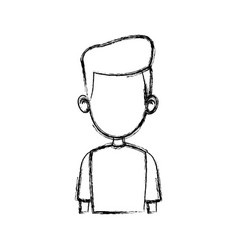 Sketch of the man character faceless portrait vector