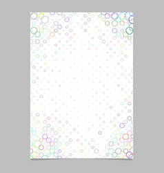 Multicolored circle pattern page template vector