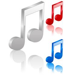 3d music note symbol vector