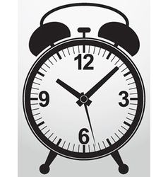 Alarm clock app icon vector