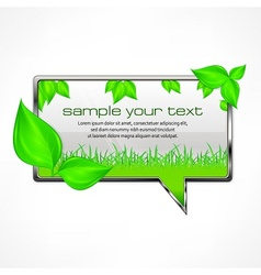 Speech bubble with green vector