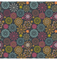 Floral seamless pattern with flowers blooming vector