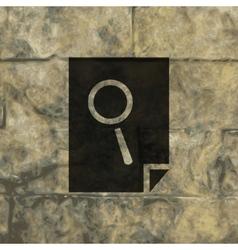 Search in file icon symbol flat modern web design vector