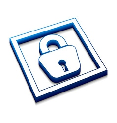 Lock web icon vector