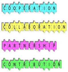 Partnership concept word tags vector