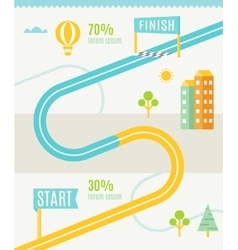 Road map infographics template vector