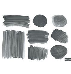 Watercolor texture set vector