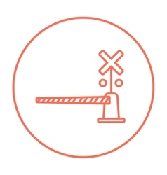 Railway barrier line icon vector
