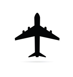 airplane black vector image