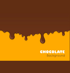 background of flowing dark chocolate vector image