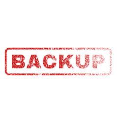 Backup rubber stamp vector