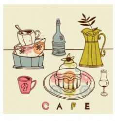 cafe designs vector image vector image
