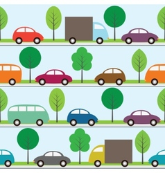 cars background vector image vector image