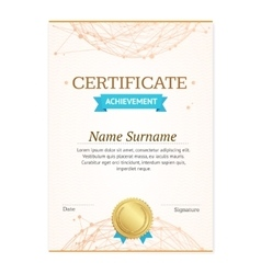 Certificate Vertical Template vector image vector image
