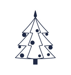 Christmas tree isolated icon vector